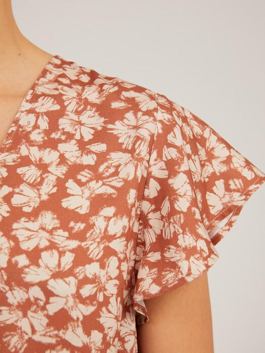 ARMEDANGELS Kleider Amaraa Straw Flower [oatmilk] jetzt im Onlineshop von zündstoff bestellen