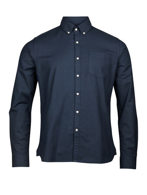 Knowledge Cotton Apparel  Stretched Oxford Shirt [total eclipse]