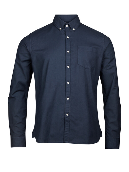 Knowledge Cotton Apparel  Hemden & Polos Stretched Oxford Shirt [total eclipse] jetzt im Onlineshop von zündstoff bestellen