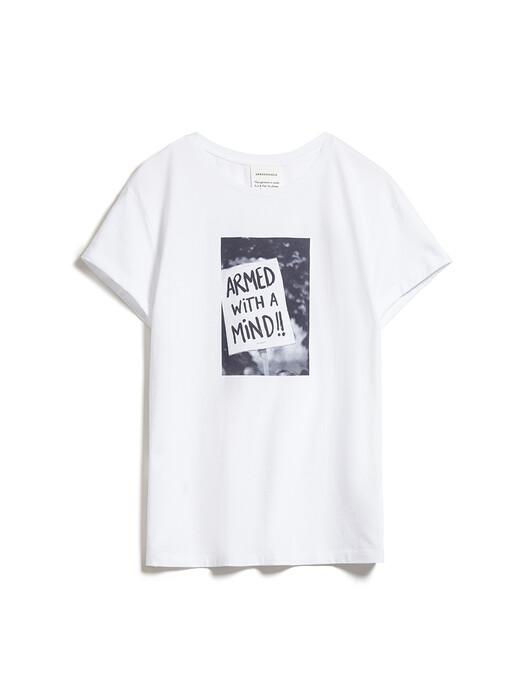 ARMEDANGELS T-Shirts Naalin Demo [white] jetzt im Onlineshop von zündstoff bestellen