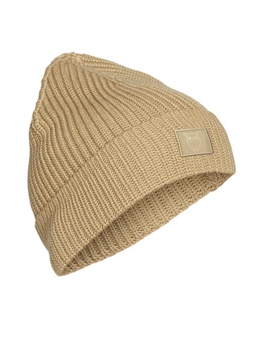 Knowledge Cotton Apparel  Mützen Leaf Ribbing Hat [gray green] One Size jetzt im Onlineshop von zündstoff bestellen