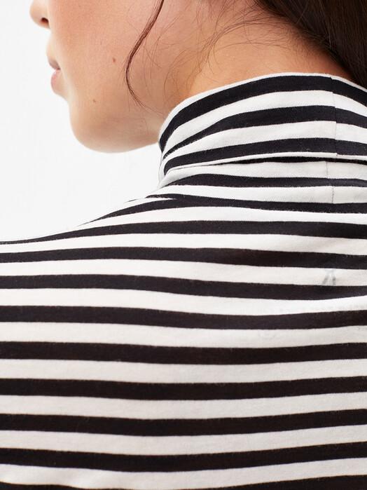 ARMEDANGELS Longsleeves Malenaa Stripes [black/oatmilk] M jetzt im Onlineshop von zündstoff bestellen