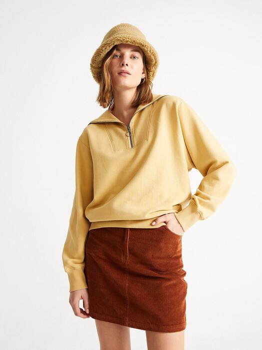 Thinking MU Sweatshirts Rebeca Sweatshirt [curry] jetzt im Onlineshop von zündstoff bestellen