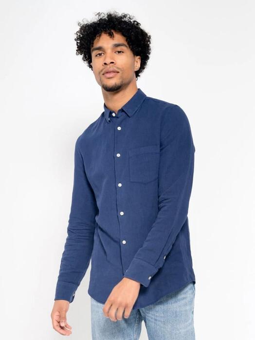 Kuyichi  Hemden & Polos Nico [royal blue] jetzt im Onlineshop von zündstoff bestellen