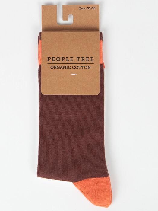 People Tree  Socken  Colourblock Socks [brown] jetzt im Onlineshop von zündstoff bestellen