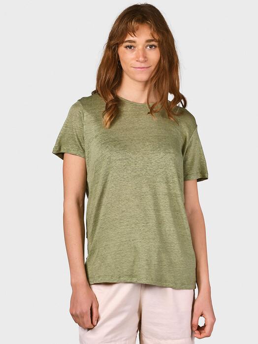 Klitmøller Collective T-Shirts Rikke Linen [pale green] S jetzt im Onlineshop von zündstoff bestellen