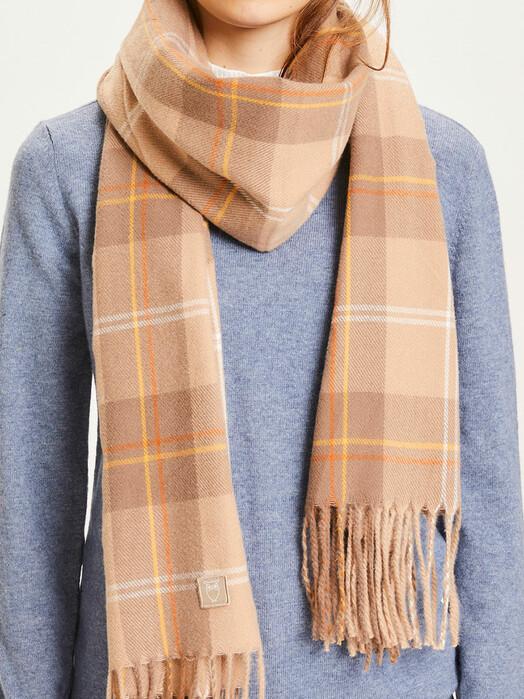 Knowledge Cotton Apparel  Schals & Tücher Madeline Scarf Checked [incense] One Size jetzt im Onlineshop von zündstoff bestellen