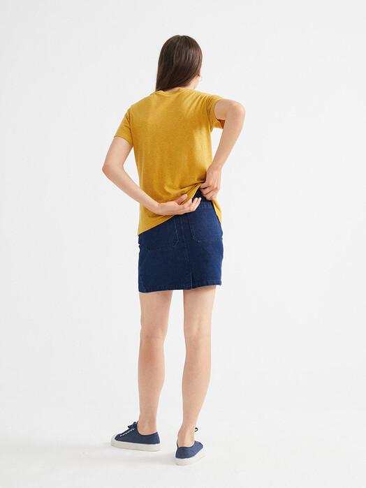 Thinking MU T-Shirts Hemp Juno T-Shirt [mustard] M jetzt im Onlineshop von zündstoff bestellen