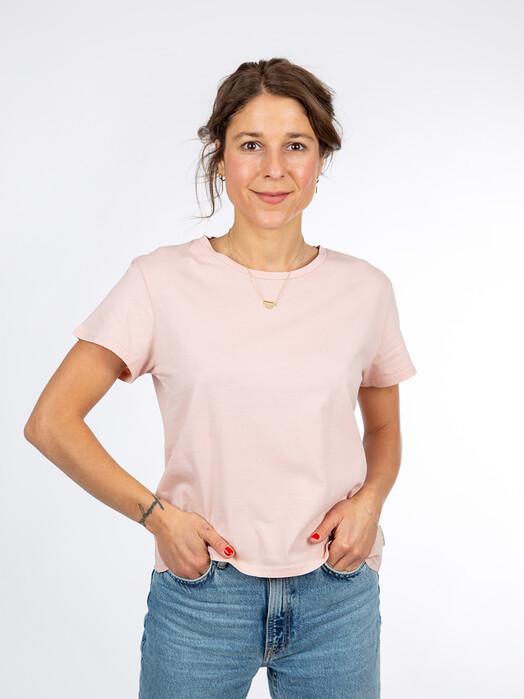 nudie Jeans T-Shirts Lisa Cropped Tee [light pink] jetzt im Onlineshop von zündstoff bestellen