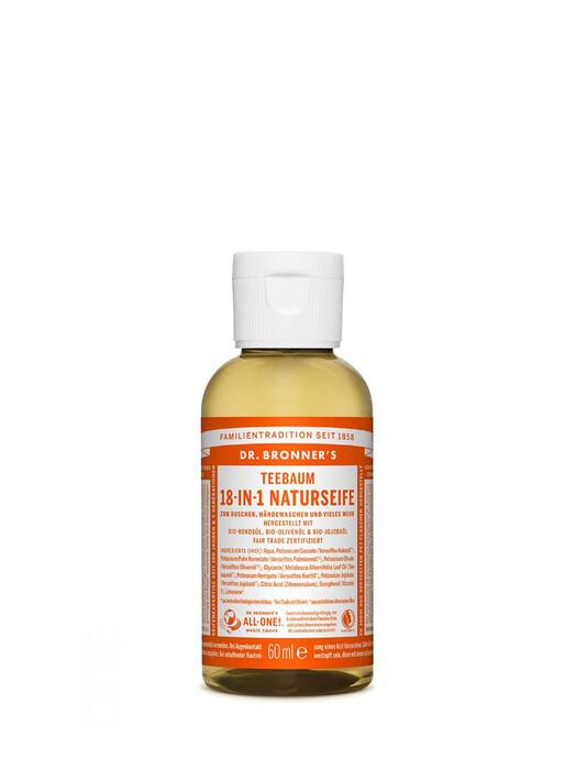 Dr. Bronner's Kosmetik Liquid Soap Teebaum 60ml jetzt im Onlineshop von zündstoff bestellen