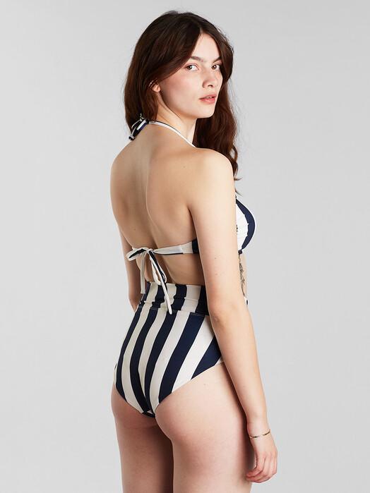 Dedicated Bikinis & Badeanzüge Slite Big Stripes [navy] jetzt im Onlineshop von zündstoff bestellen
