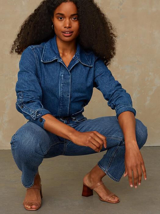 K.O.I. Jeans Jeans Caroline [eco xavier blue marble] jetzt im Onlineshop von zündstoff bestellen