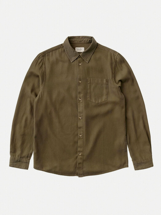 nudie Jeans Hemden & Polos Chuck Fluid Twill [army] jetzt im Onlineshop von zündstoff bestellen