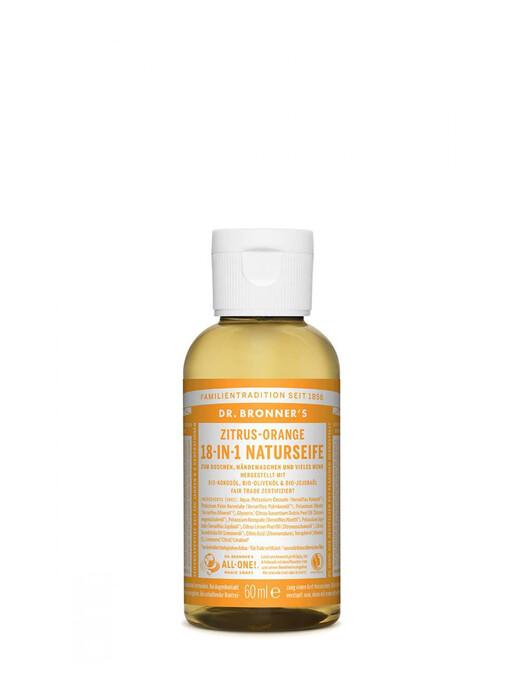 Dr. Bronner's Kosmetik Liquid Soap Zitrus Orange 60ml jetzt im Onlineshop von zündstoff bestellen