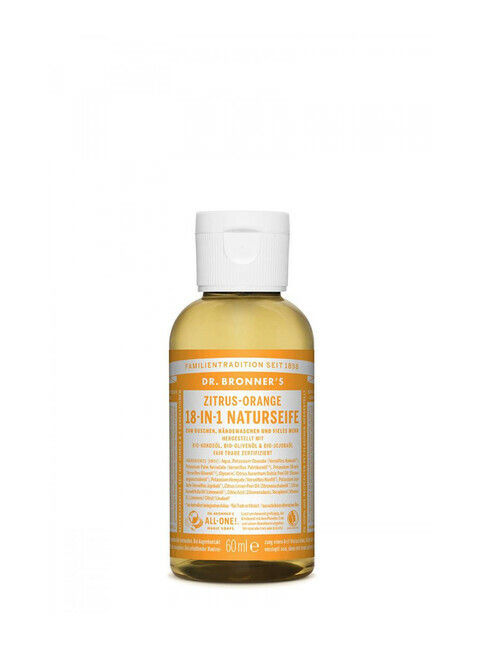 Dr. Bronner's Liquid Soap Zitrus Orange 60ml