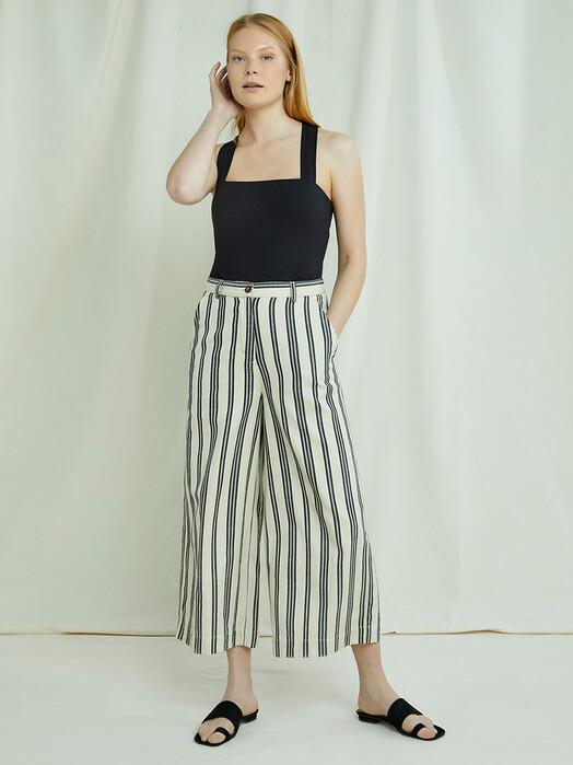 People Tree  Hosen Shauna Striped Trousers [black] jetzt im Onlineshop von zündstoff bestellen