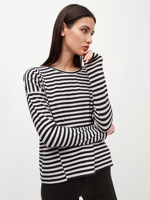 ARMEDANGELS Longsleeves Palinaa Knitted Stripe [kitt/black] S jetzt im Onlineshop von zündstoff bestellen