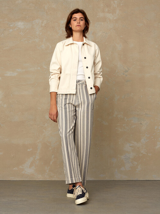 K.O.I. Jeans Hosen Leila [beige stripe] jetzt im Onlineshop von zündstoff bestellen