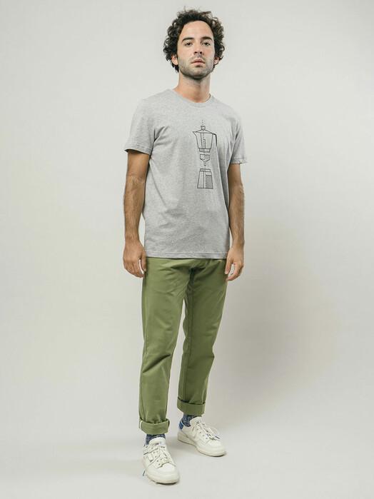 Brava Fabrics T-Shirts How to Moka T-Shirt [grey] jetzt im Onlineshop von zündstoff bestellen