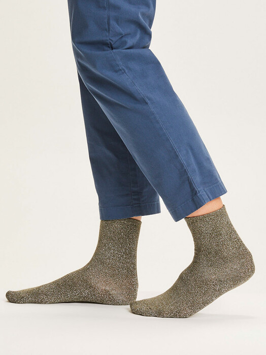 Knowledge Cotton Apparel  Socken  Honey Glitter Socks [forrest night] jetzt im Onlineshop von zündstoff bestellen