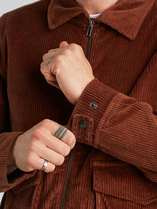 Dedicated Padded Jacket Vallentuna Corduroy [brown]