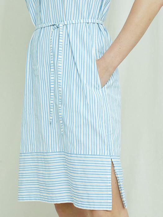 People Tree  Kleider Hema Stripe Dress [blue] jetzt im Onlineshop von zündstoff bestellen