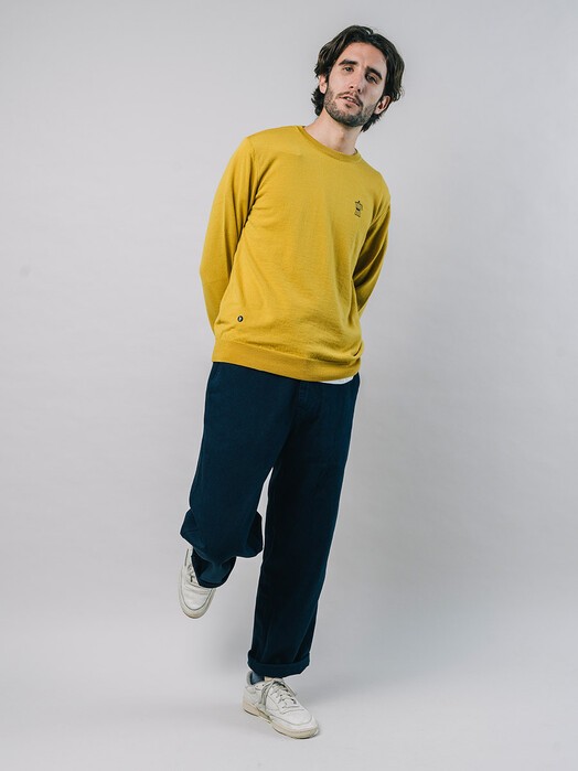 Brava Fabrics Strickpullover Roasted Morning Sweater [mustard] jetzt im Onlineshop von zündstoff bestellen