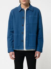 Blaues Worker Jacket aus Biobaumwolle von Nudie Jeans