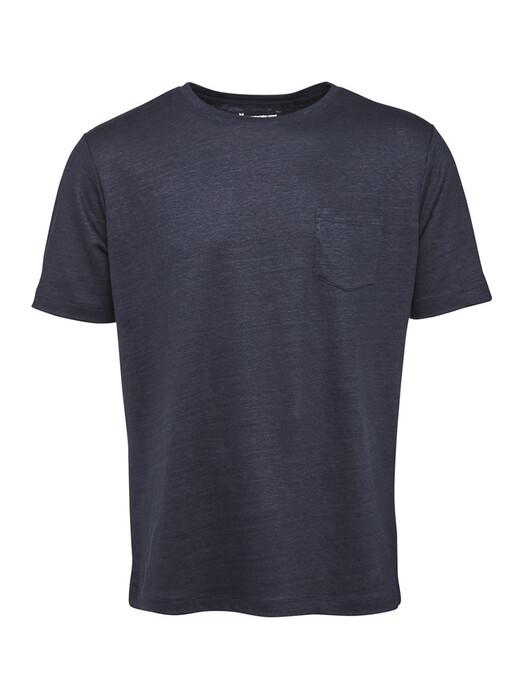 Knowledge Cotton Apparel  T-Shirts Alder Linen Tee [black jet] jetzt im Onlineshop von zündstoff bestellen