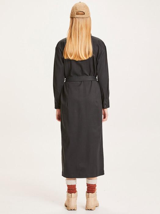 Knowledge Cotton Apparel  Kleider Azalea Patch Pocket Dress [black jet] jetzt im Onlineshop von zündstoff bestellen