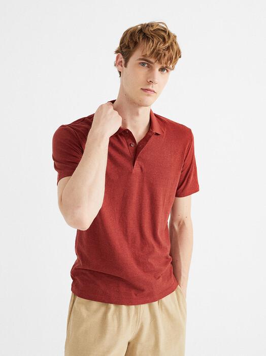 Thinking MU Hemden & Polos Hemp Polo [raspberry] L jetzt im Onlineshop von zündstoff bestellen