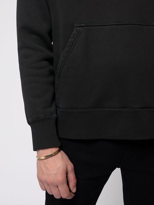 nudie Jeans Hoodies Franke NJCO Circle [black] jetzt im Onlineshop von zündstoff bestellen