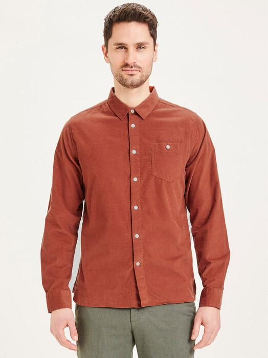 Knowledge Cotton Apparel  Hemden & Polos Elder Baby Cord Shirt [arabian spice] jetzt im Onlineshop von zündstoff bestellen