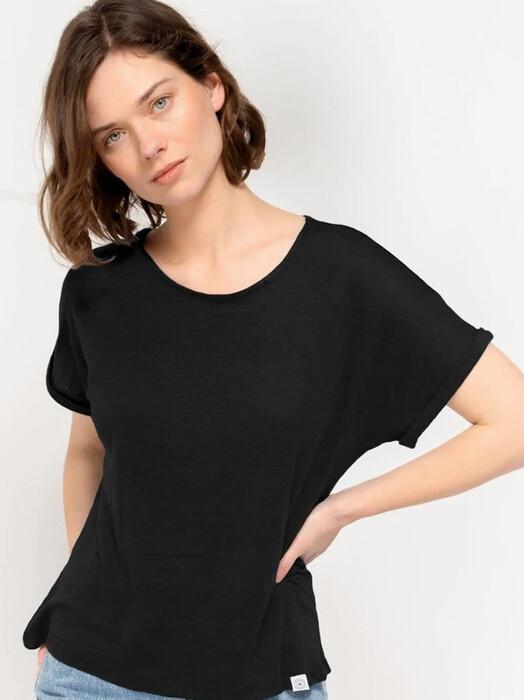 Kuyichi  T-Shirts Bella Linen Tee [jet black] XS jetzt im Onlineshop von zündstoff bestellen