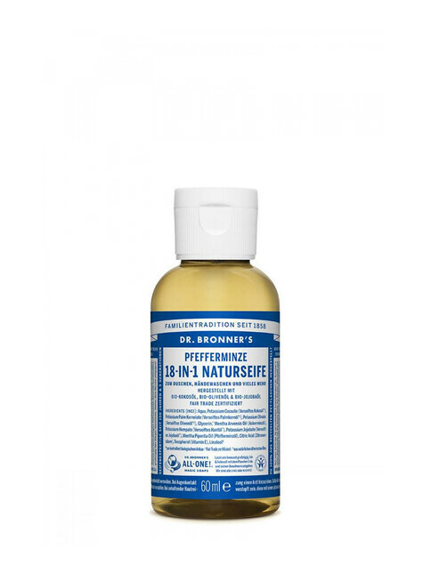 Dr. Bronner's Liquid Soap Pfefferminze 60ml