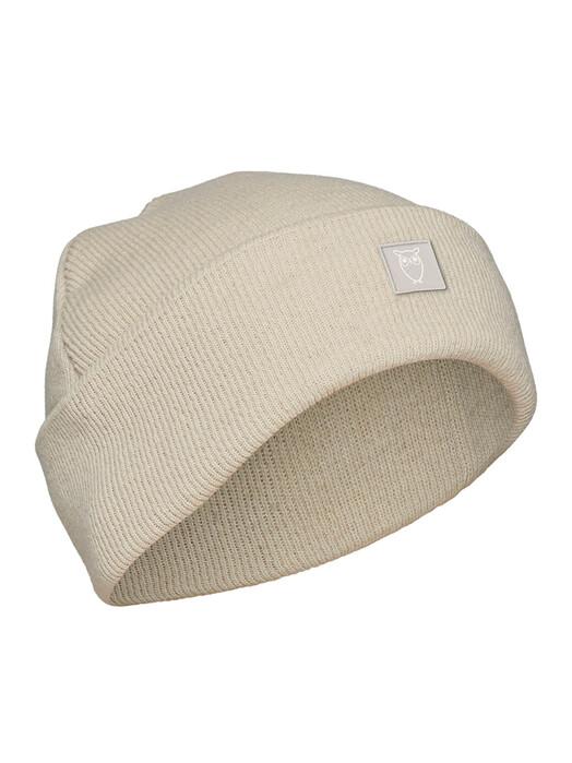 Knowledge Cotton Apparel  Mützen Leaf Organic Wool Beanie [nature melange] One Size jetzt im Onlineshop von zündstoff bestellen