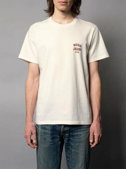 nudie Jeans T-Shirts Roy Logo Tee [offwhite] jetzt im Onlineshop von zündstoff bestellen