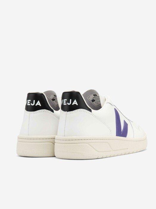 Veja Schuhe  V-10 Leather [extra-white purple black] jetzt im Onlineshop von zündstoff bestellen