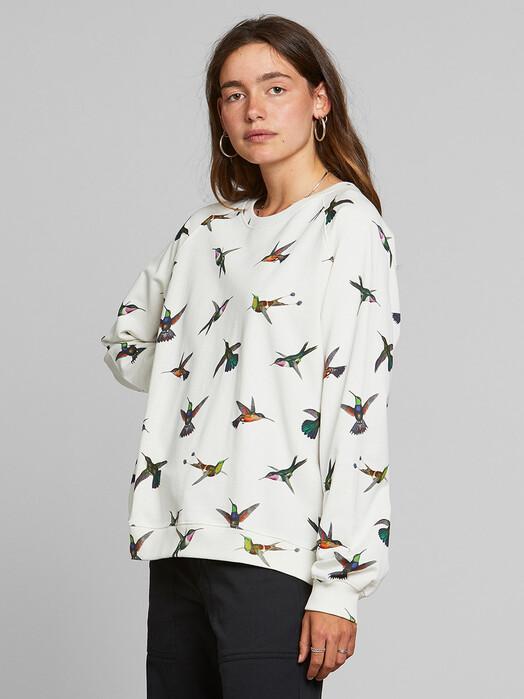 Dedicated Sweatshirts Ystad Hummingbirds [off-white] jetzt im Onlineshop von zündstoff bestellen