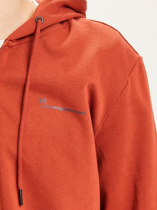 Knowledge Cotton Apparel  Hoodies Elm Knowledge Zip Hoodie [arabian spice] jetzt im Onlineshop von zündstoff bestellen