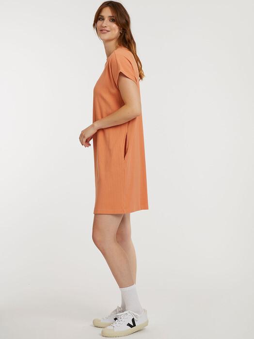 ThokkThokk  Kleider Boxy Shirt Dress [pheasant ribbed] jetzt im Onlineshop von zündstoff bestellen