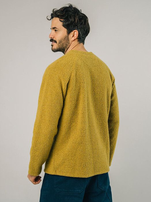 Brava Fabrics Sweatshirts Jersey Sweater [mustard] jetzt im Onlineshop von zündstoff bestellen