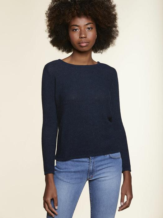Les Racines du Ciel Strickpullover & Cardigans Ker Round Neck Sweater [blue chine] jetzt im Onlineshop von zündstoff bestellen