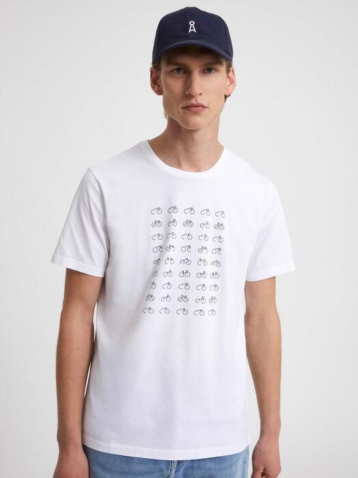 ARMEDANGELS T-Shirts Jaames 45 Bikes [white] jetzt im Onlineshop von zündstoff bestellen