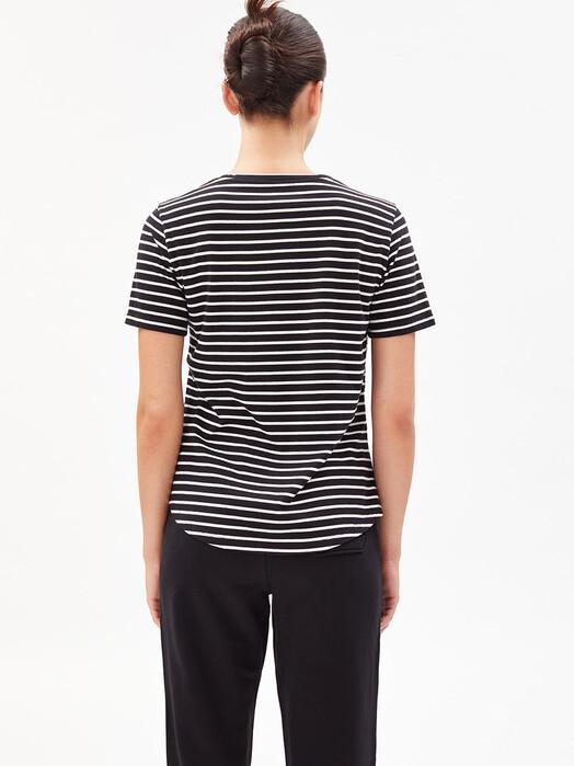 ARMEDANGELS T-Shirts Minaa Stripes [black/off white] jetzt im Onlineshop von zündstoff bestellen
