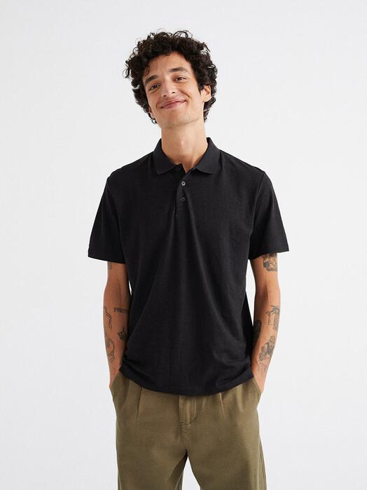 Thinking MU Hemden & Polos Hemp Polo [black] L jetzt im Onlineshop von zündstoff bestellen