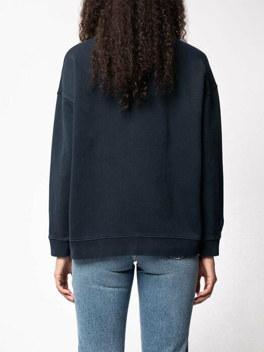 nudie Jeans Sweatshirts Bibbi Blue Heart [navy] jetzt im Onlineshop von zündstoff bestellen