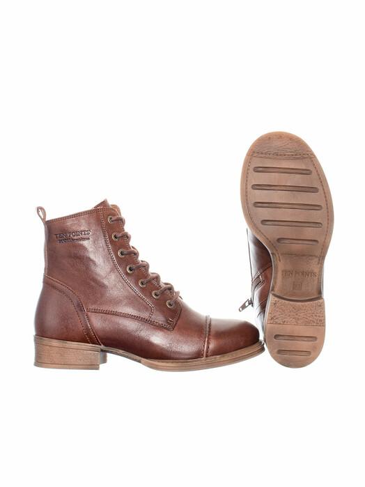 Ten Points Schuhe  Pandora Laced Gefüttert [chocolate] jetzt im Onlineshop von zündstoff bestellen