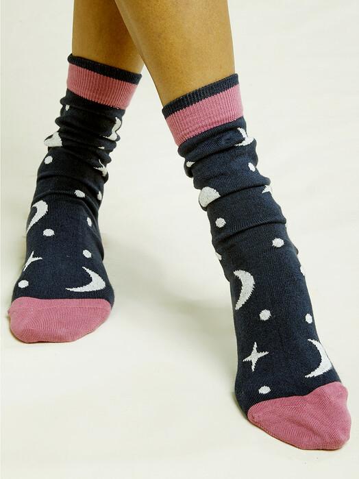 People Tree  Socken  Galaxy Socks [navy multi] 35-38 jetzt im Onlineshop von zündstoff bestellen