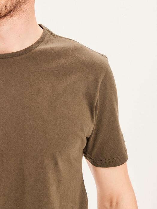 Knowledge Cotton Apparel  T-Shirts Alder Basic Tee [forrest night] jetzt im Onlineshop von zündstoff bestellen